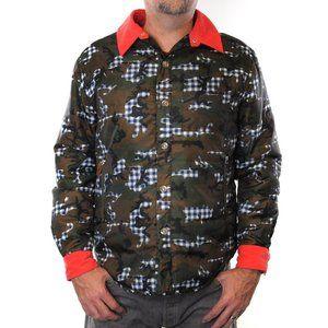 BILLIONAIRE BOYS CLUB Camo Puffer Jacket #ZF33